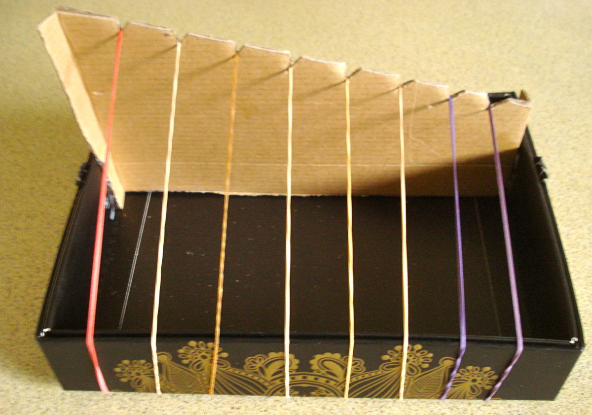 The finished harp