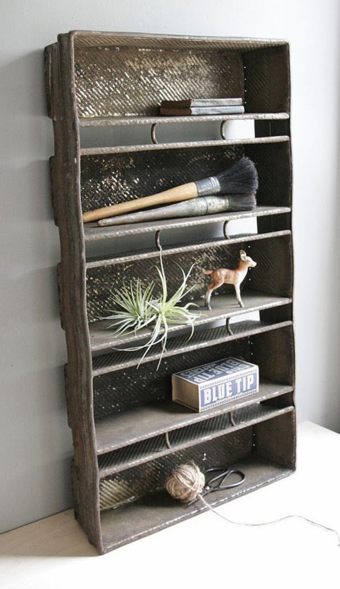 Simple and elegant repurposed industrial bread pans...