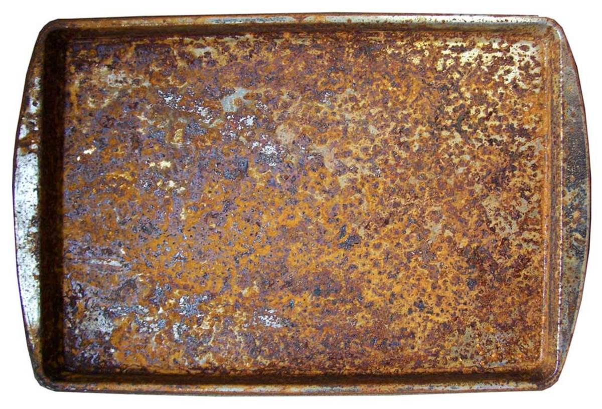 One of my finished rusting plates.