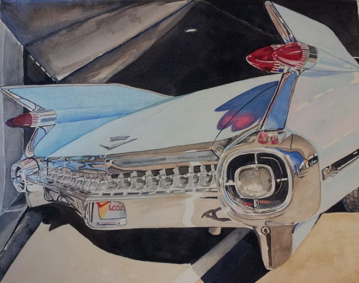 """""""Blue Fin"""" watercolor, 11x14"""""""