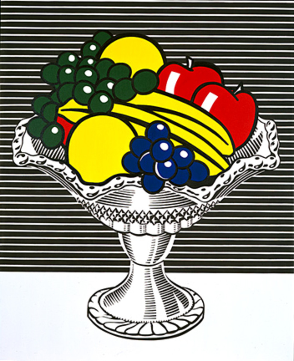 This image blurs the lines of the still life genre, well known in fine art, with that of a comic or a cartoon.