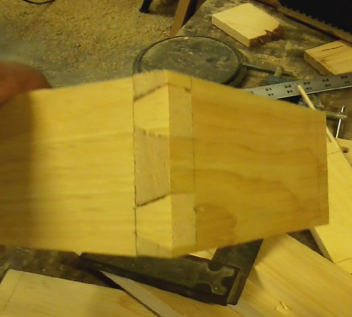 Some minor gaps might appear in your joints. These will be filled with wood putty.