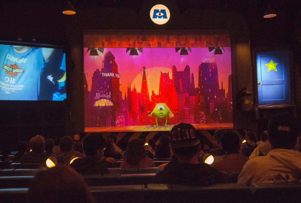 During the Monsters Inc. Laugh Floor show.