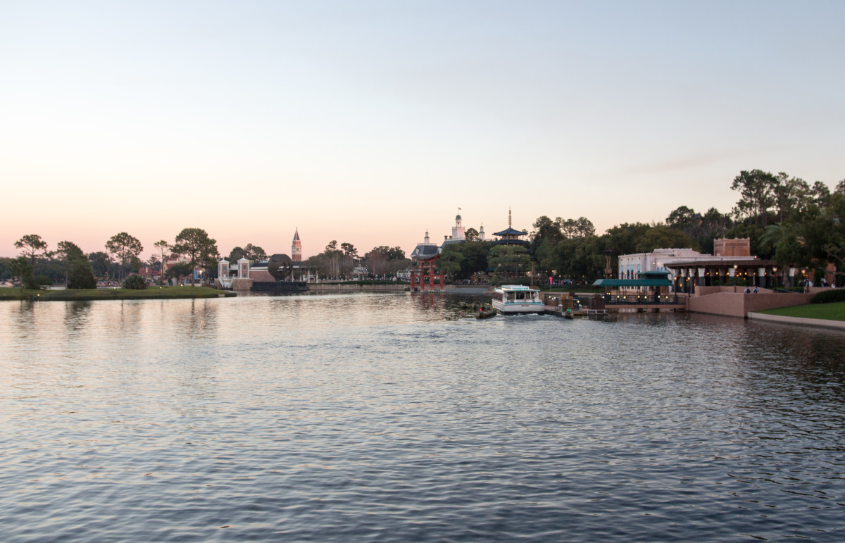 One of the many across the lake views at Epcot.