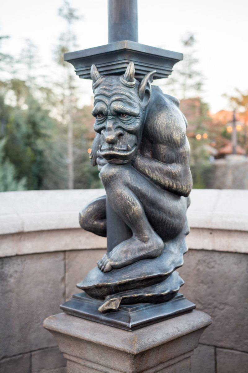 There are so many neat little touches in the Disney Parks, such as this gargoyle outside of the Beast's Castle.