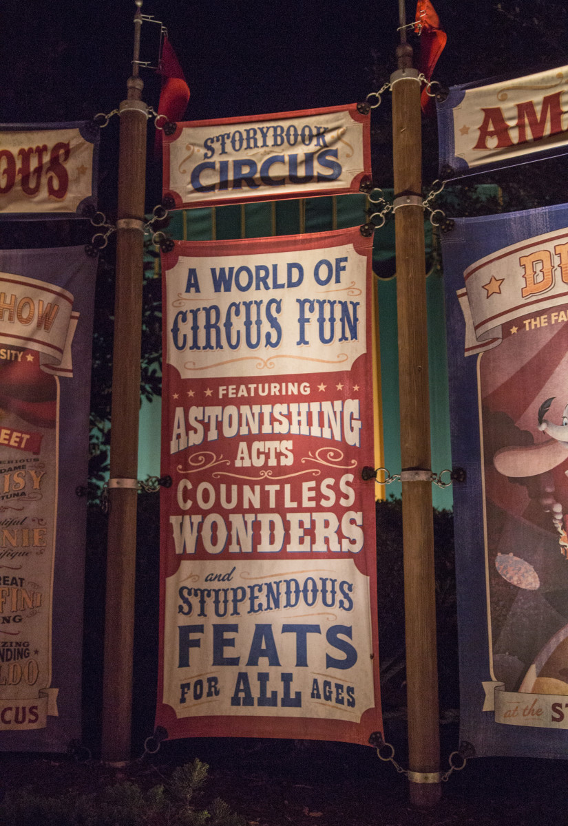 Circus Posters in Storybook Circus Fantasyland in Magic Kingdom