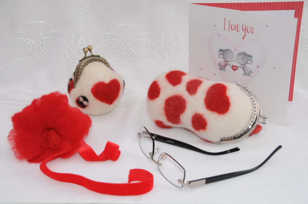 The completed Coin Purse and Spectacle Case