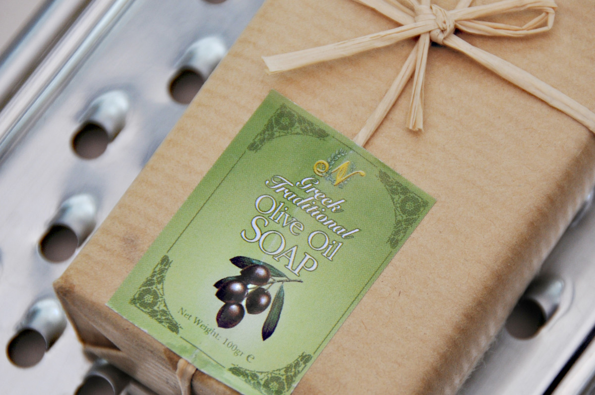 A bar of Olive Oil Soap