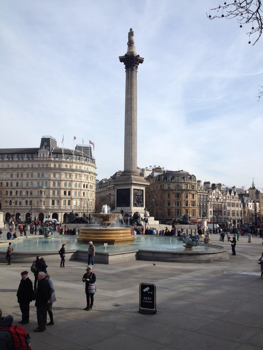 Trafalgar Square on a usual day