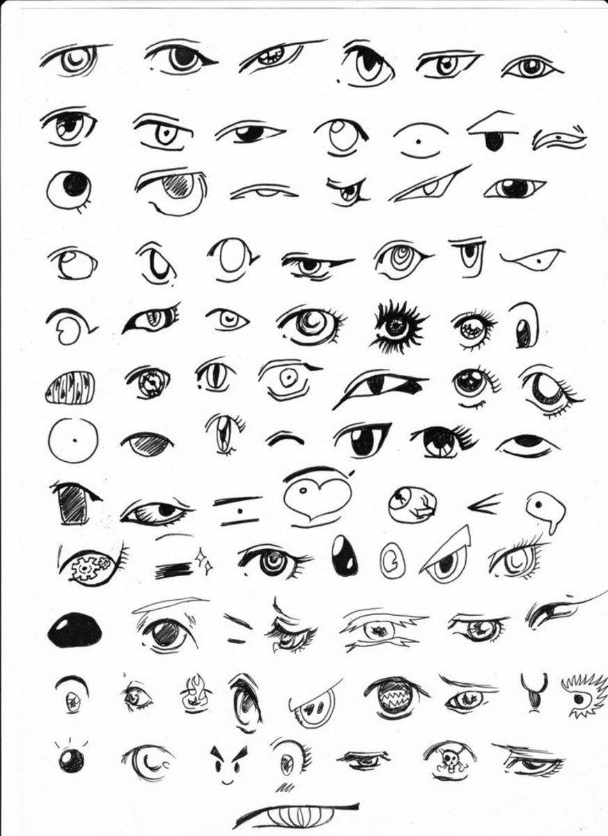 Not my work, but I cannot credit the artist because the link I was using for that is now broken. I did something very similar to this once, copying many of the eyes from various manga.