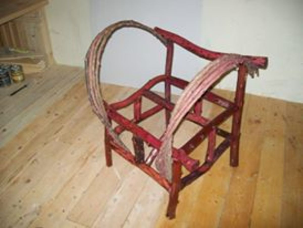 Another view of the chair with arm benders in place