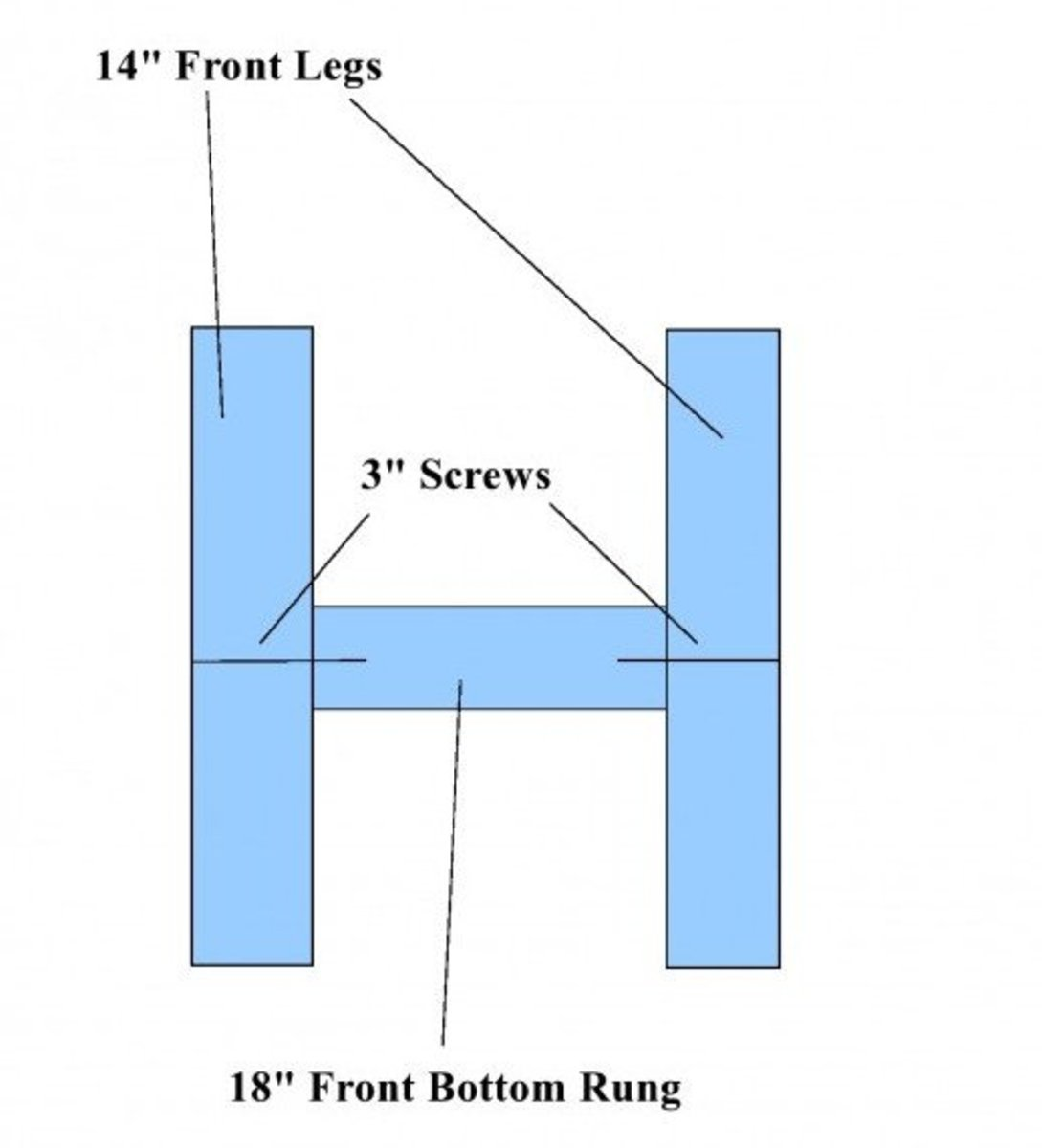Chair Front Legs and Front Rung
