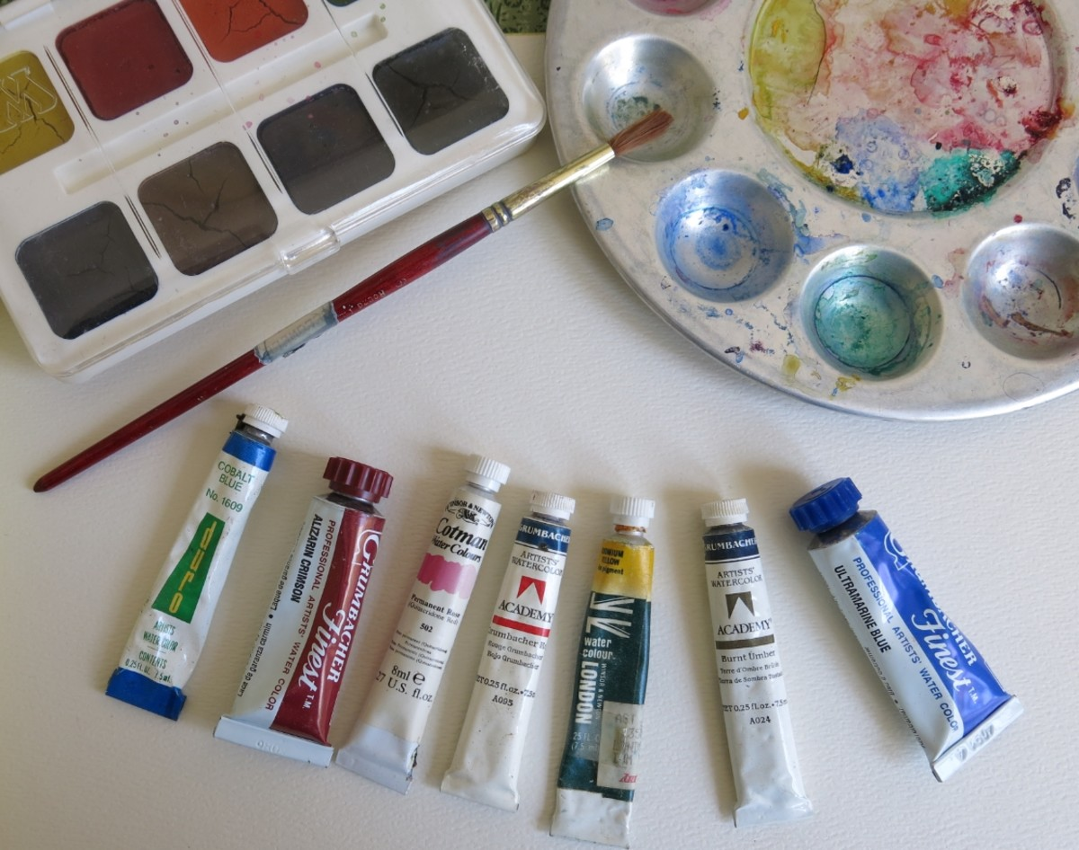 Watercolor paints come in a few varieties