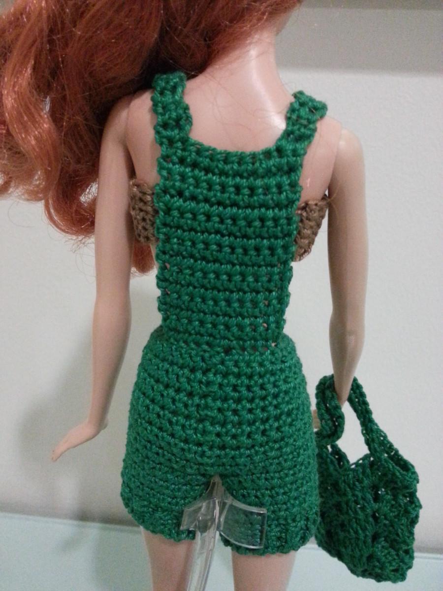 Back of Barbie Basic Overalls