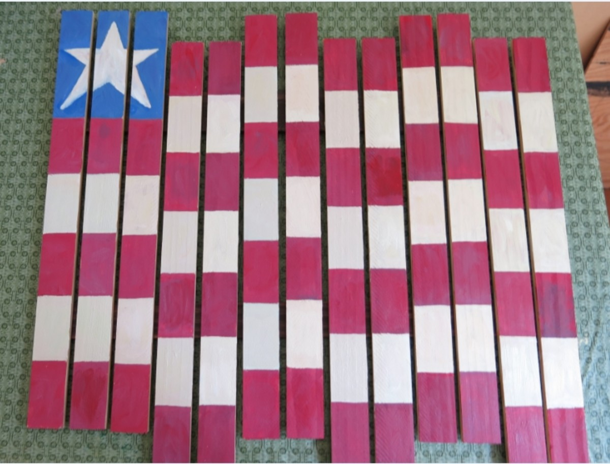 One possible layout for your flag welcome sign