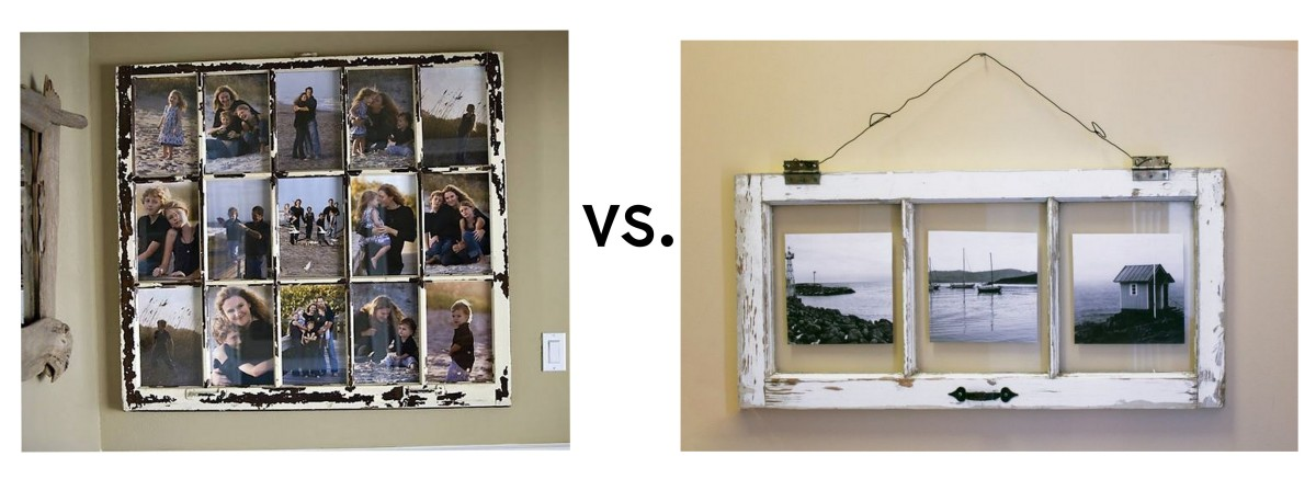 http://dishfunctionaldesigns.blogspot.com/2012/01/reclaimed-windows.html / http://marcatiyolil.com/diy-vintage-window-pane-photo-frame/