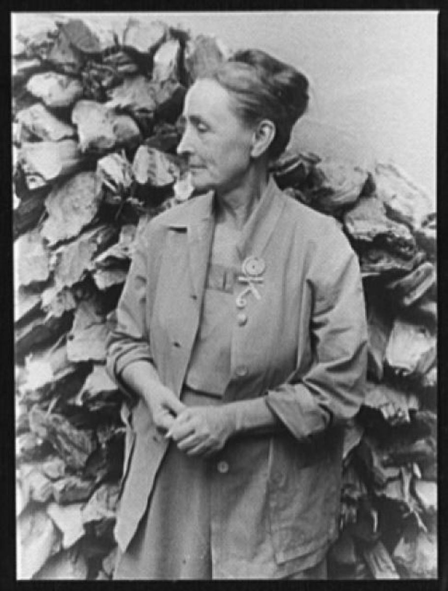 Georgia O'Keeffe At Abiquiu, New Mexico