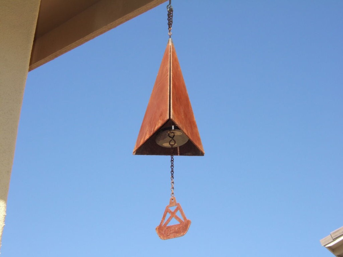 Wind chime bell with rust patina