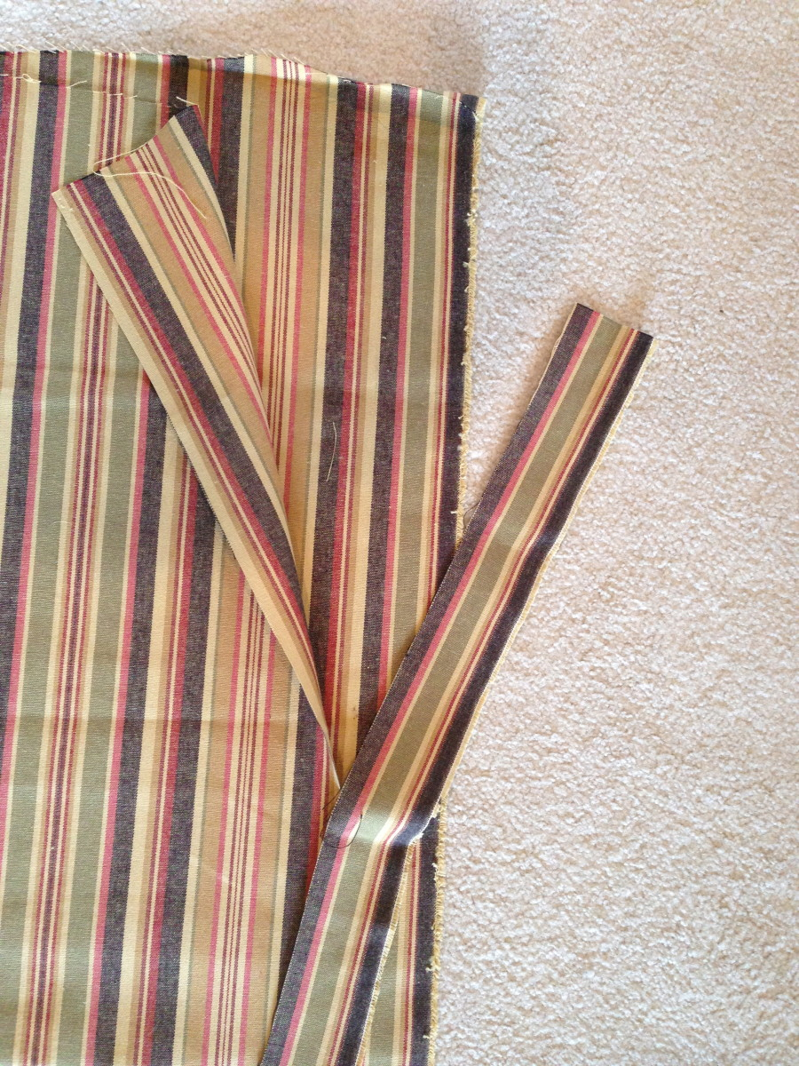 Cut long strips first to be used for the ties