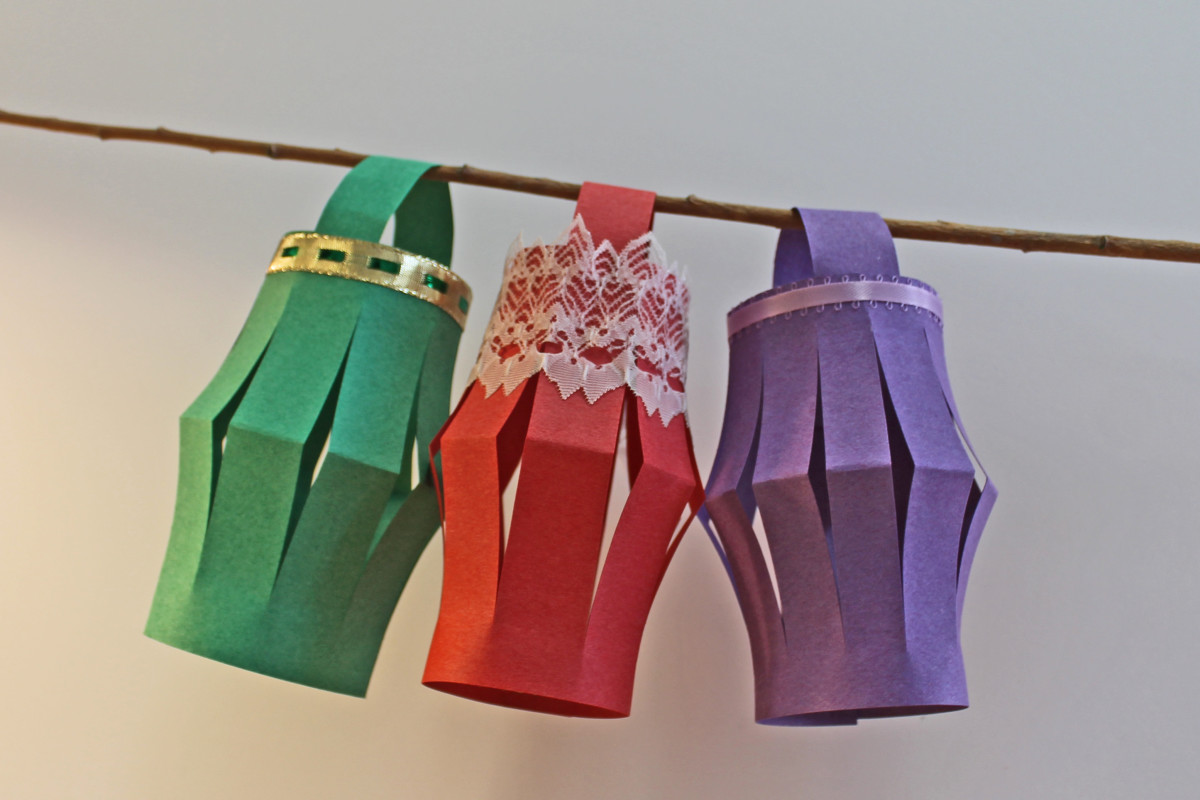 Add bits of ribbon or lace to your Chinese paper lanterns to make them unique.
