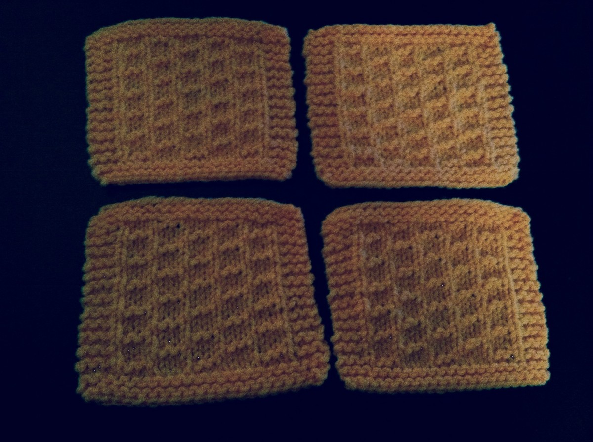 Beautifully knitted coasters