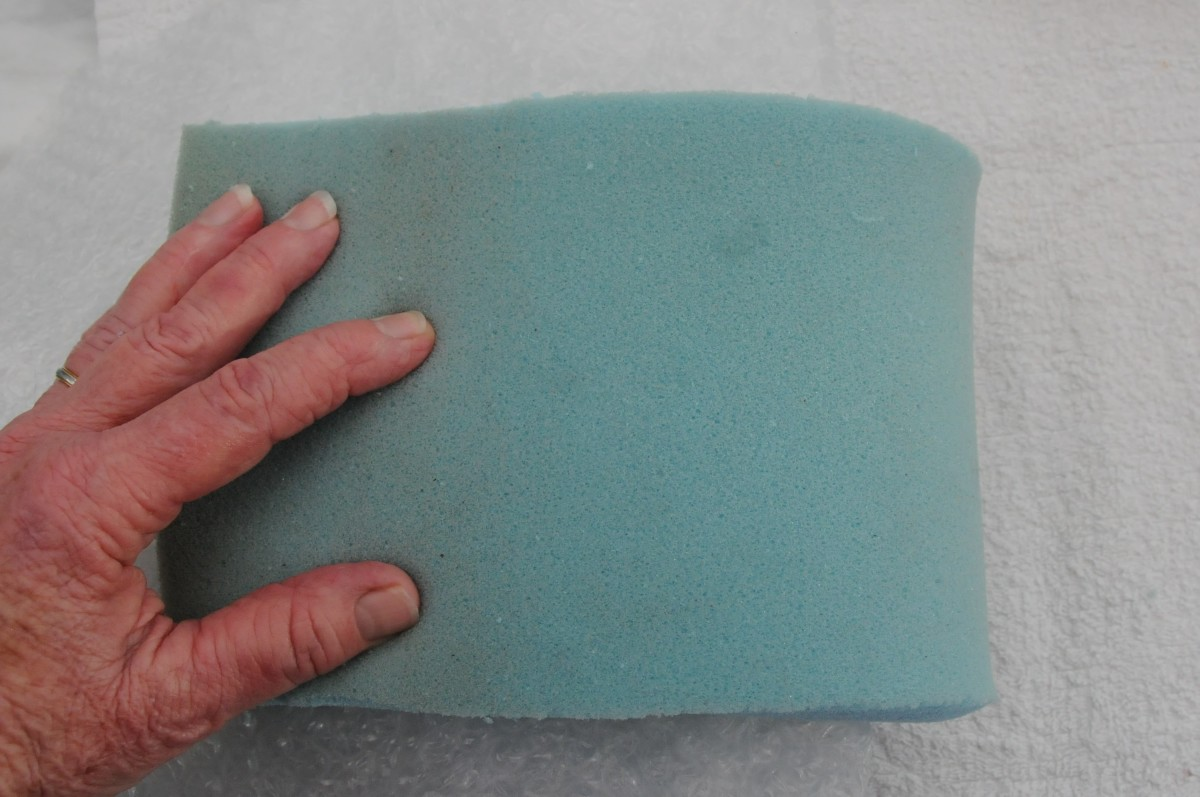 Fold the Foam in half over the Soap