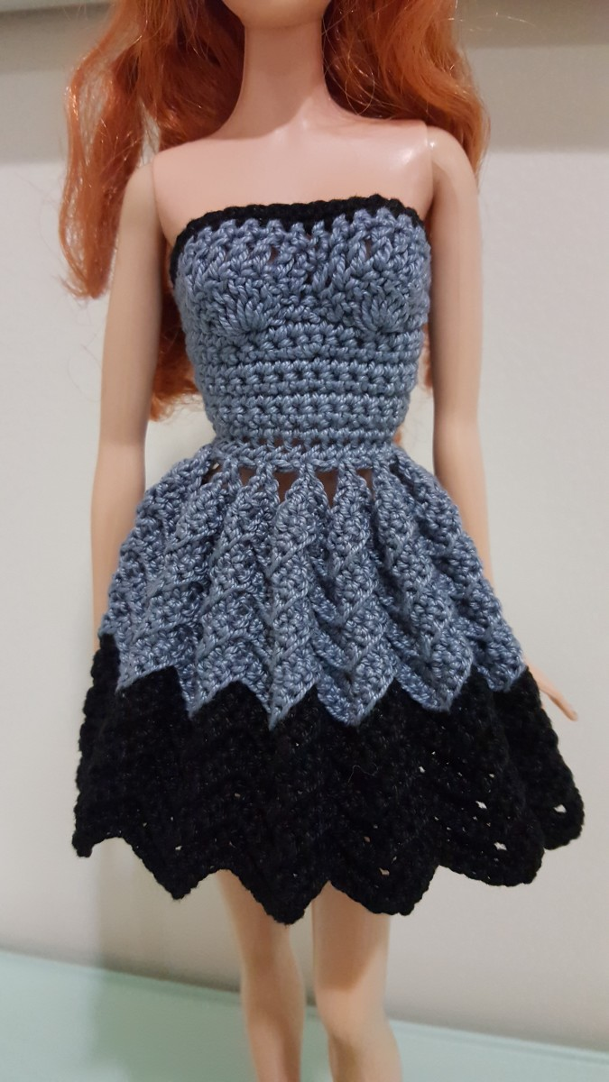 Barbie Strapless Chevron Dress (Free Crochet Pattern ...