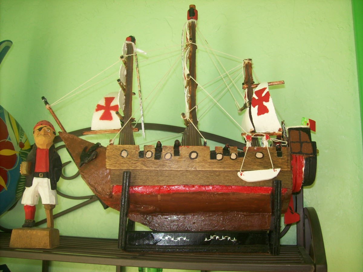An example of a finished replica. Model 15th century Portuguese galleon