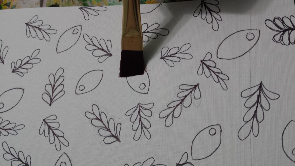 This brush would be way too large for painting it. Creating a mess thereby creating frustration.