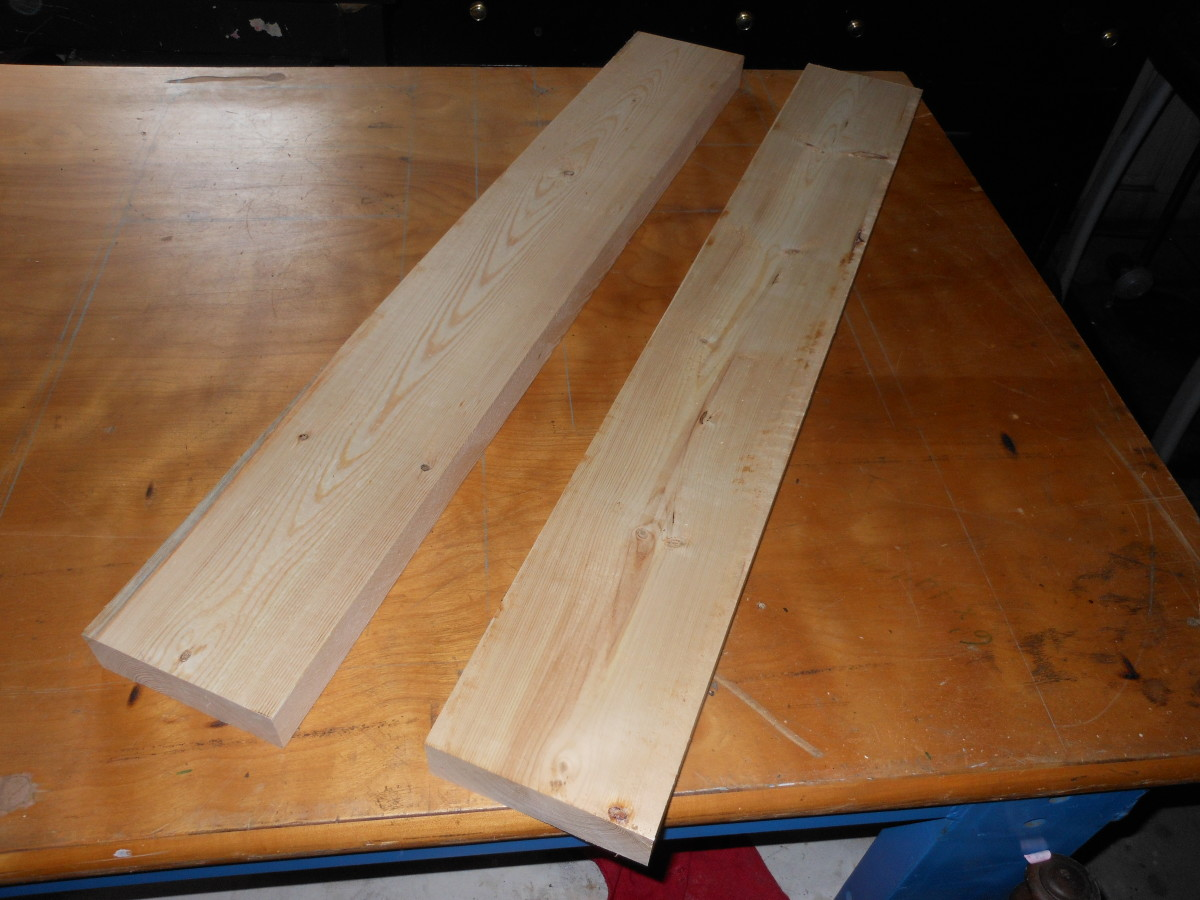 common 2 x 6 pine boards are used