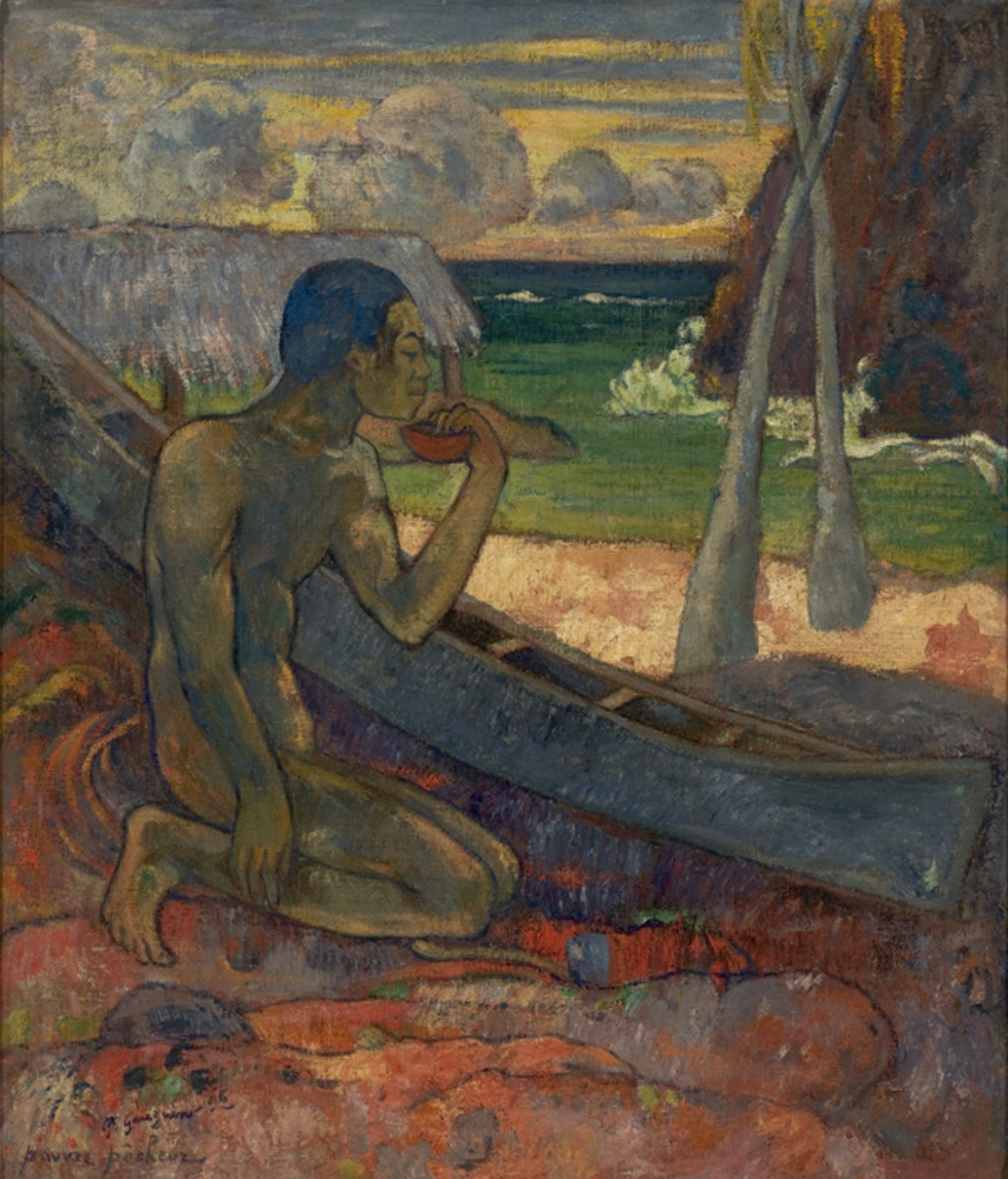 Poor Fisherman, 1896, by Paul Gauguin. Look How Many Greens, Blues, Reds, and Neutral Colors.