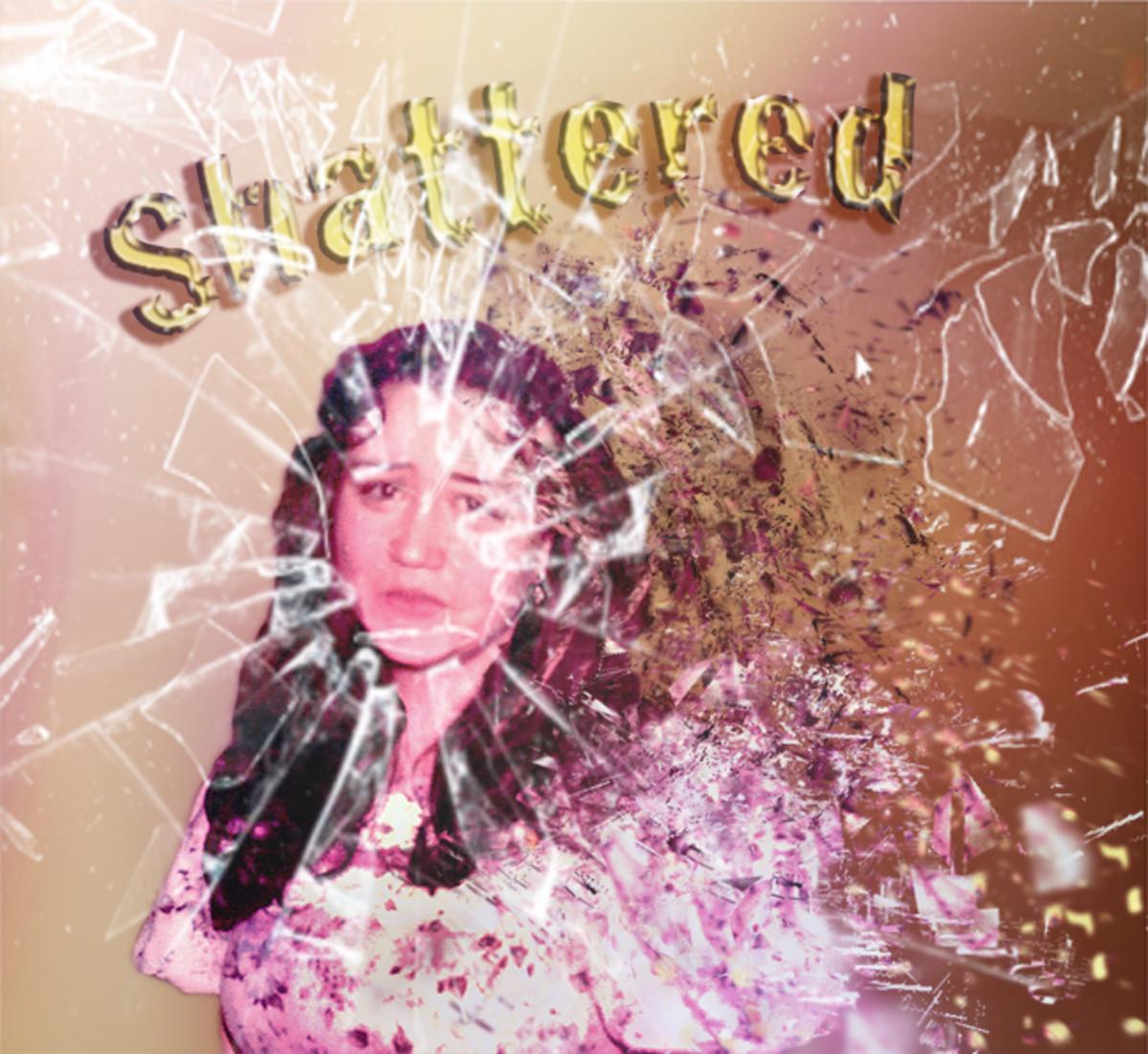 Me Shattered.  Shattered Photoshop Action.