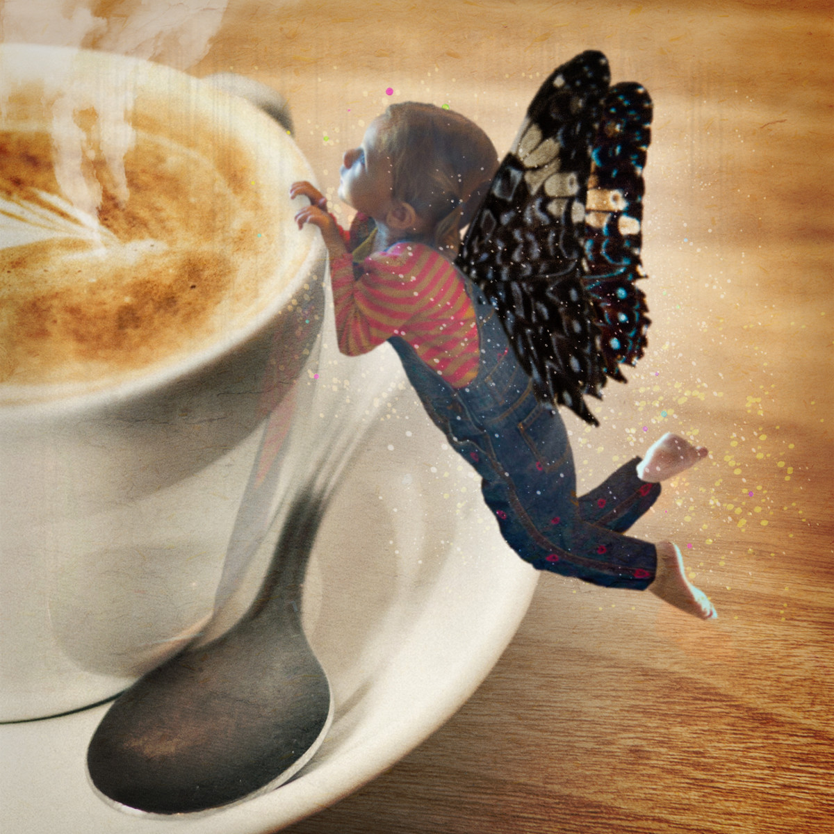 My granddaughter, Ivy, as a Coffee Fairy.