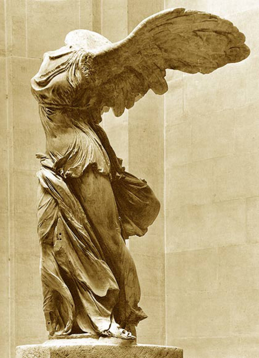 Greek statue of Nike.