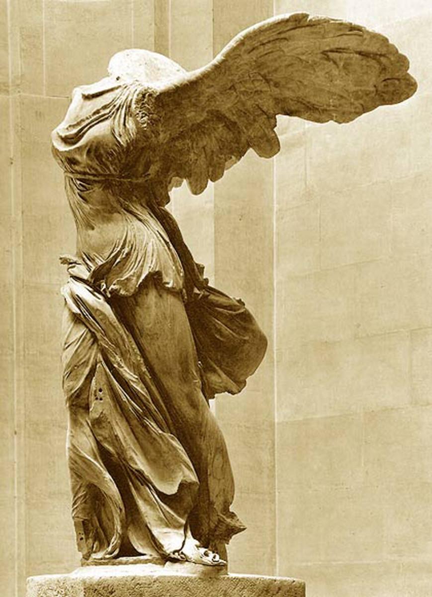 Greek statue of Nike.