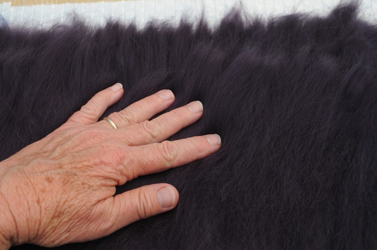 Add an even layer of Navy Fibers to the Second side of Layer 1