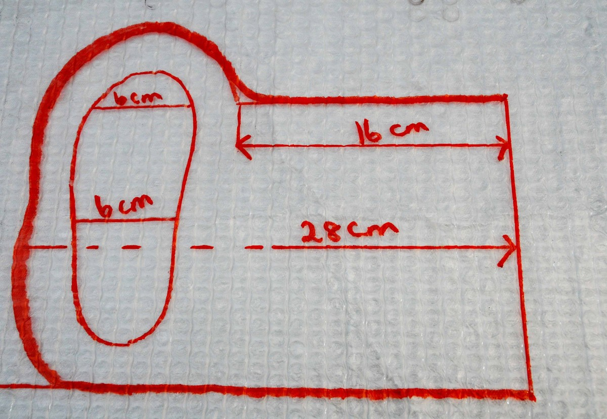 Measurements should be adjusted for different size feet.  Estimate on shrinkage of around 30%