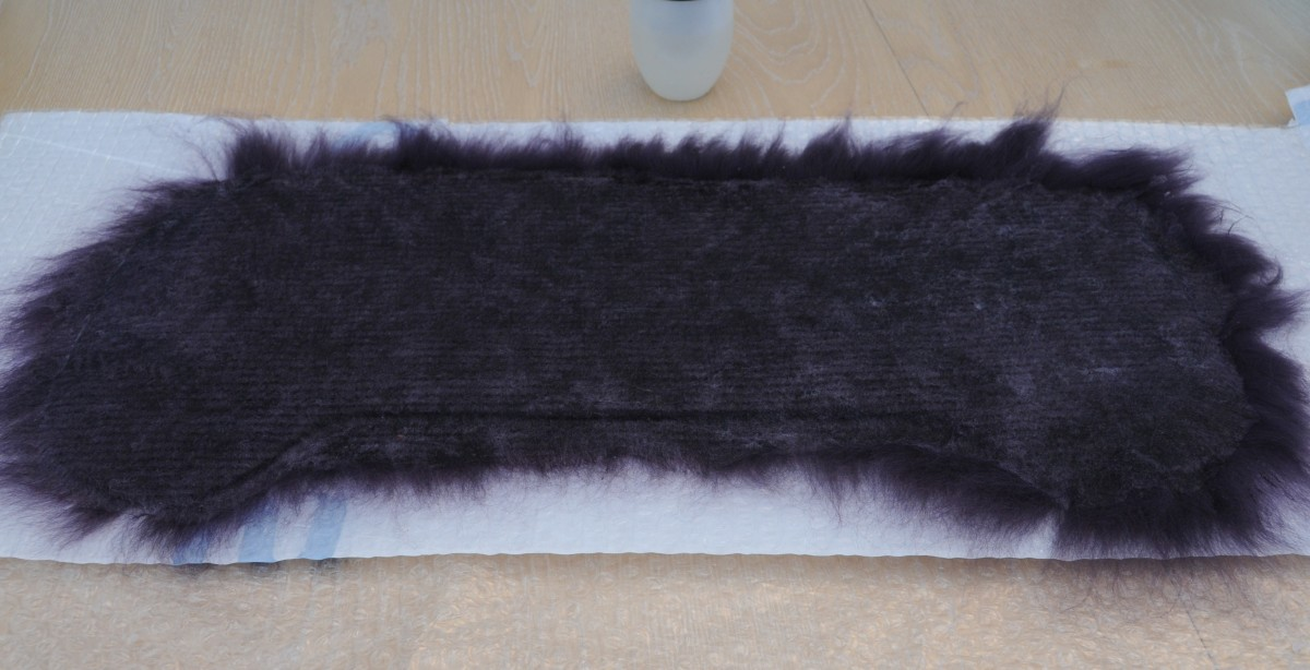 Wet edges just need to be folded over and smoothed down.