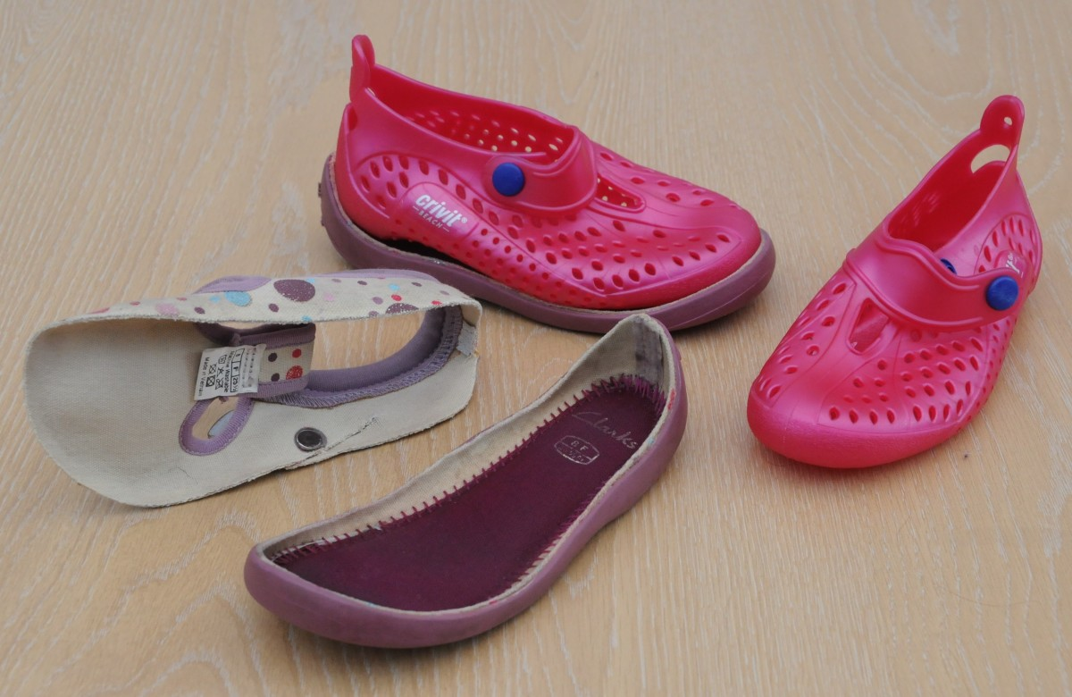 Crivit Beach Shoes and Recycled Soles from the Clarke's range of shoes selected especially for their high sides.