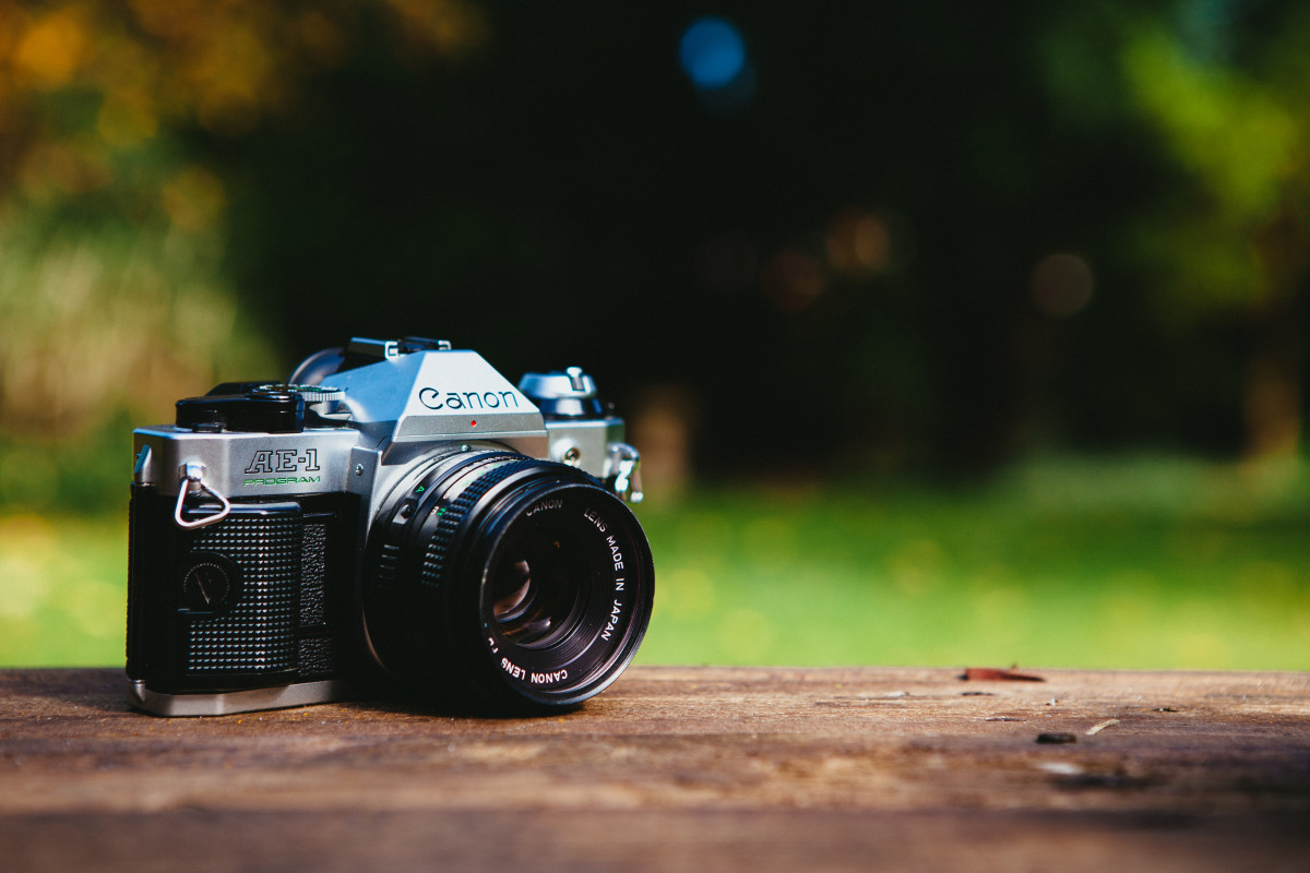 The Canon AE-1 is a flagship Canon film camera. Canon produced the AE-1 for nearly a decade, selling over one million units and paving the way for the modern era of photography.