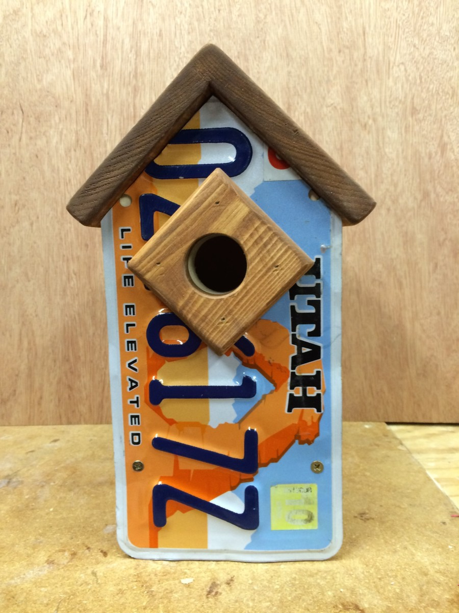 License Plate Bluebird House
