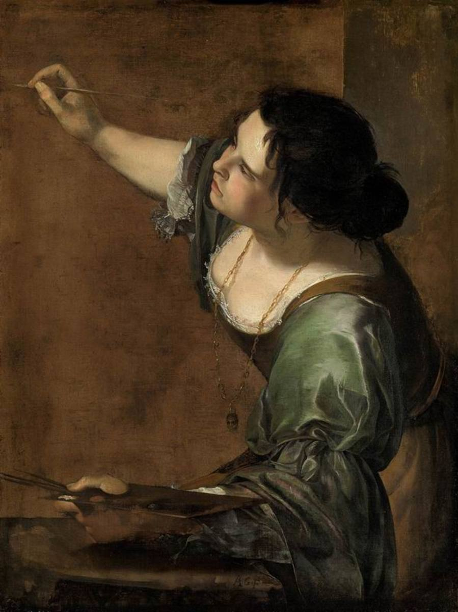 Artemisia Gentileschi, Self-portrait as the Allegory of Painting (La Pittura), c.1638-9  Copyright image courtesy of Royal Collection Trust © Her Majesty Queen Elizabeth II 2016. All rights reserved.