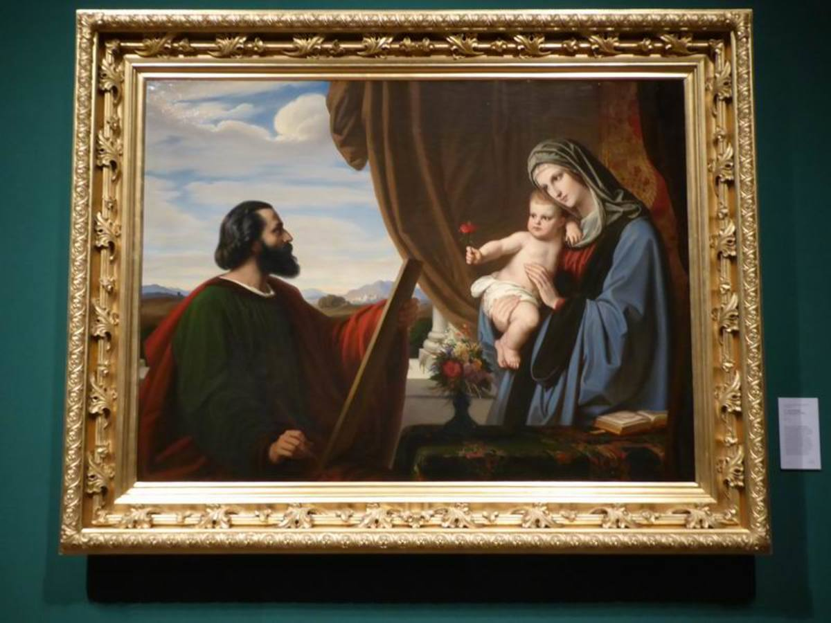 Jakob von Steinle (1810-1886) shows St Luke painting the Virgin and Child. Copyright image by Frances Spiegel with Permission from The Royal Collection Trust. All rights reserved.