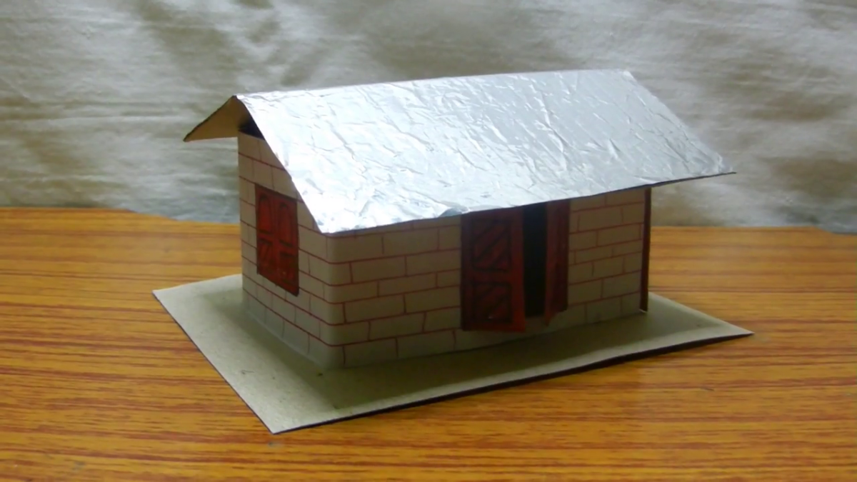 This is how cool your paper house will look like when it is done.