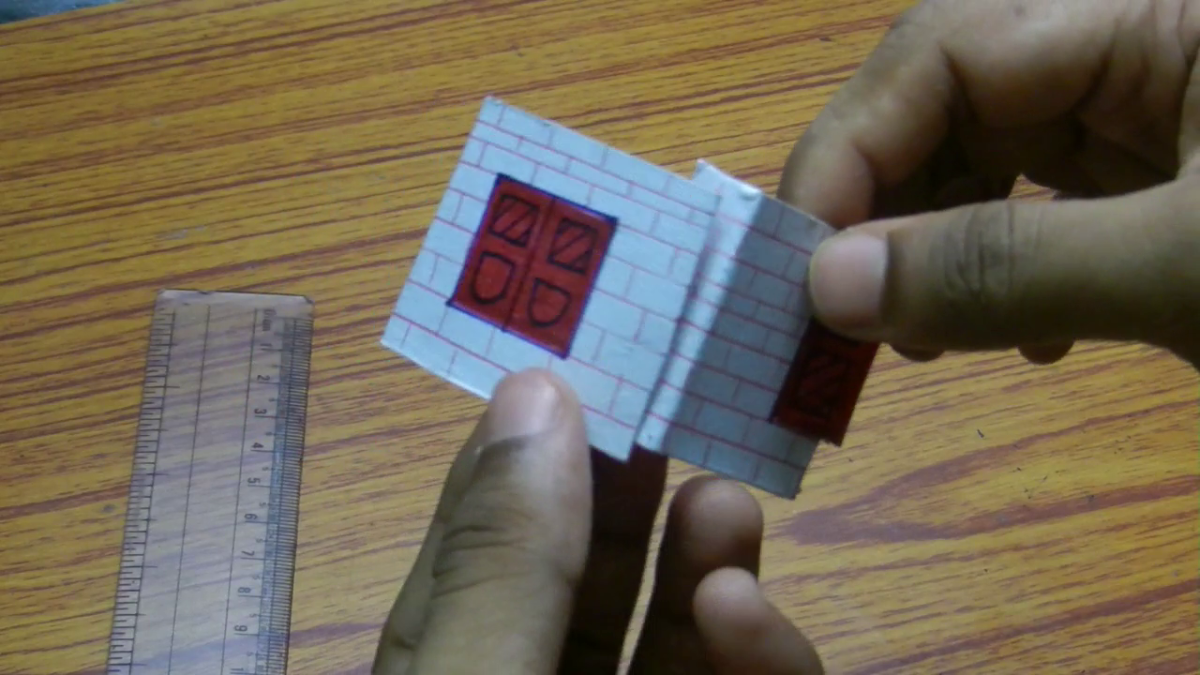 Paste the parts in order to make a complete four sided box.