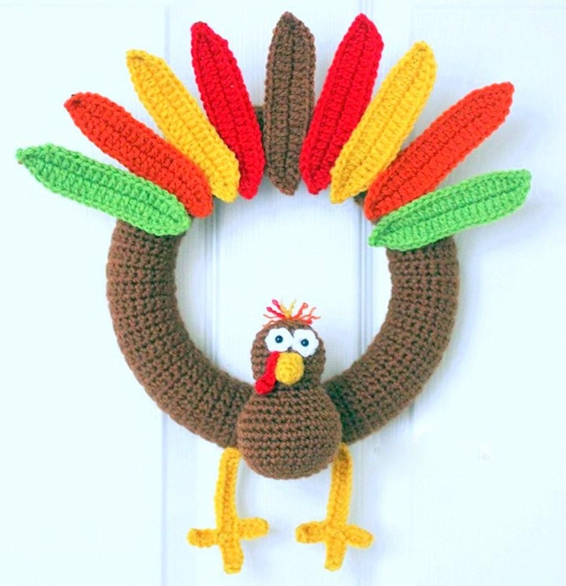 11 Free Fall Thanksgiving Wreaths Crochet Patterns Feltmagnet