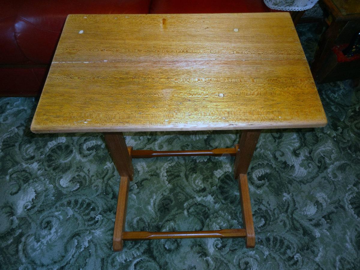 Completed teak sofa table