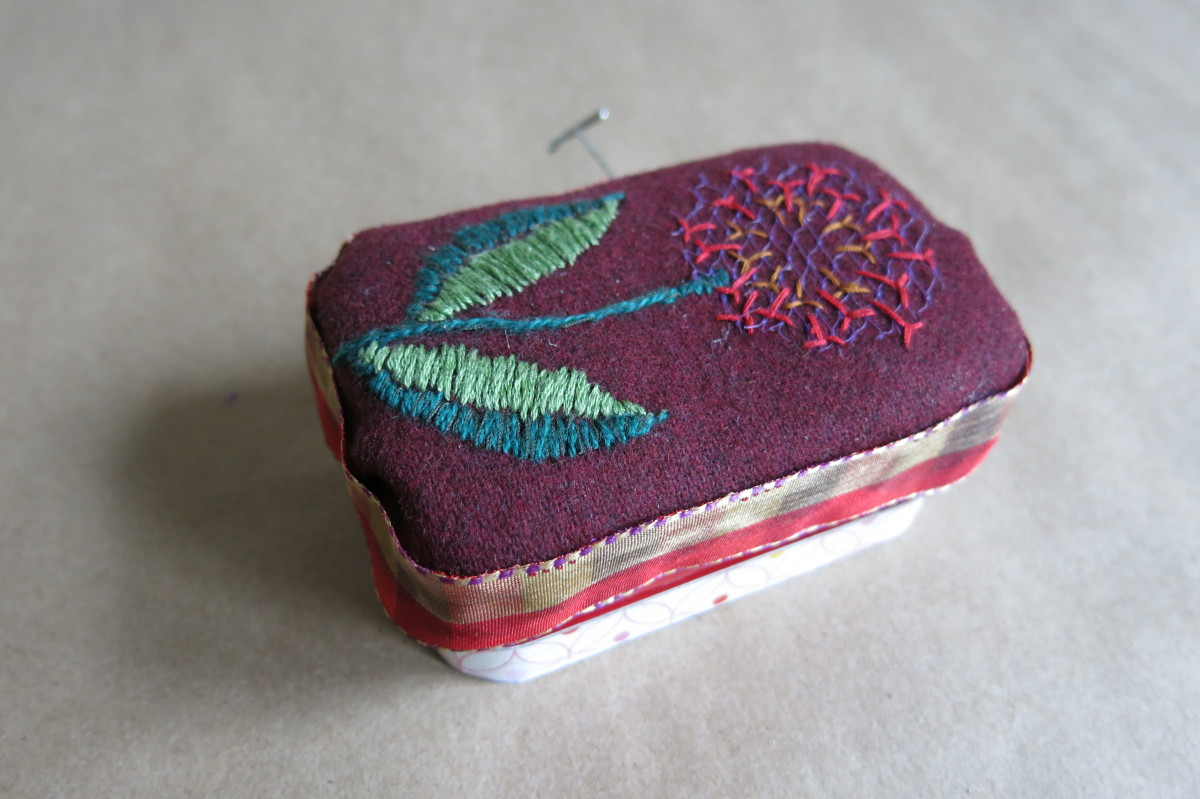 Finishing your Altoids tin pincushion and notions box