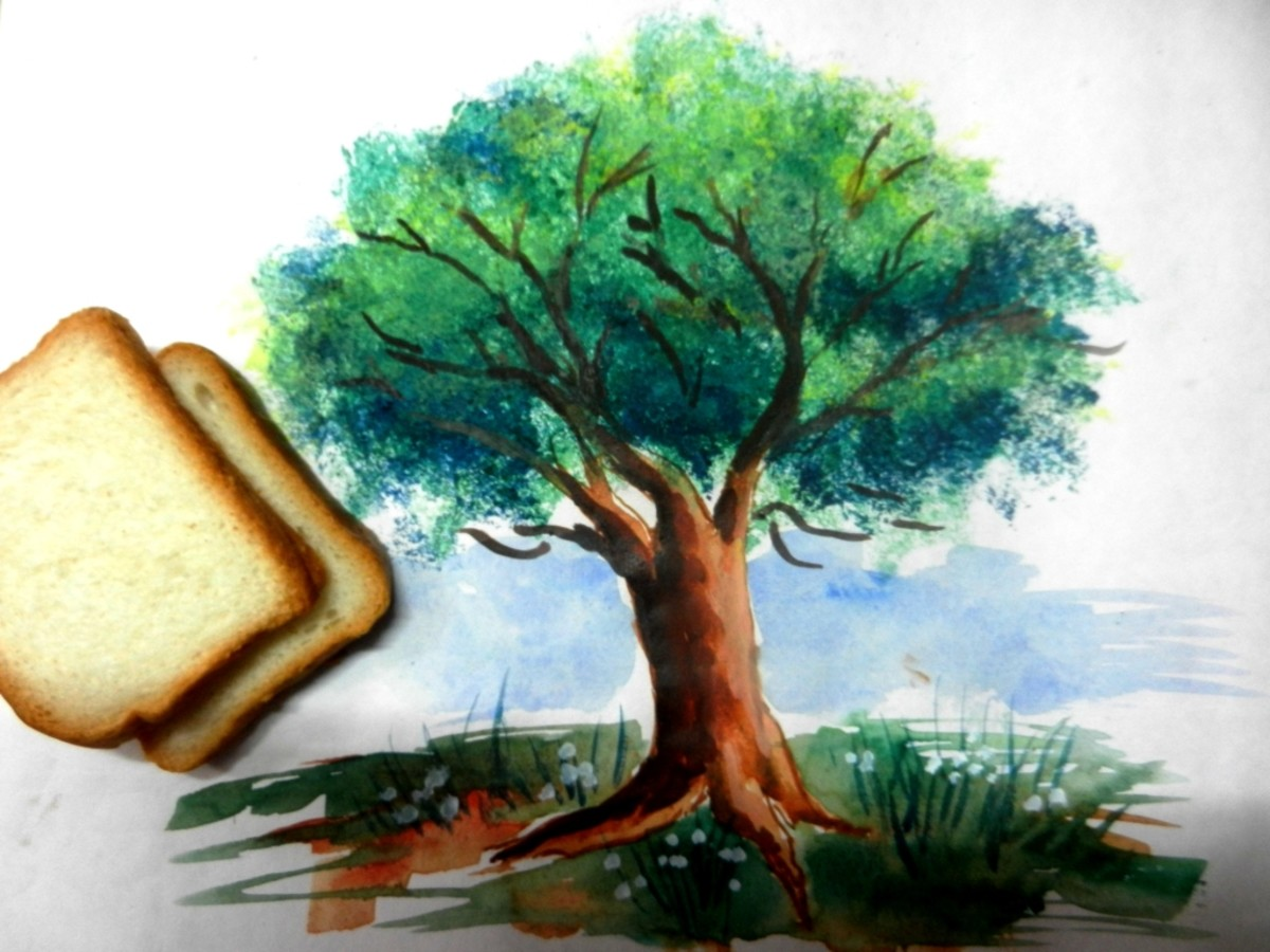 Easy Bread Slice Trick To Paint Tree Leaves That Actually Works Feltmagnet
