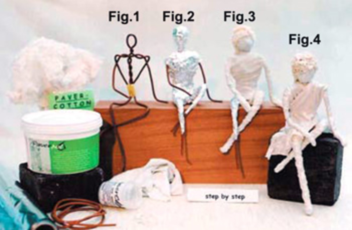 Basic steps for the figurines